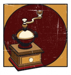 coffee mill grunge vector image vector image