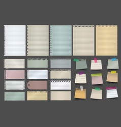 Collection of various note paper vector image