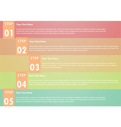 Five step infographics background vector image vector image