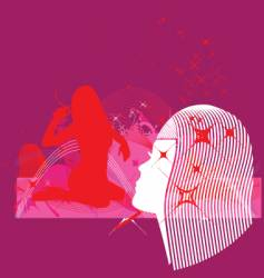 model profile and dream elements vector image vector image