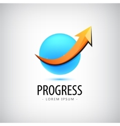 progress logo growth financial and vector image
