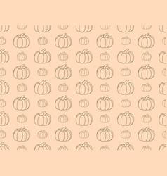 pumpkins seamless pattern autumn background vector image vector image