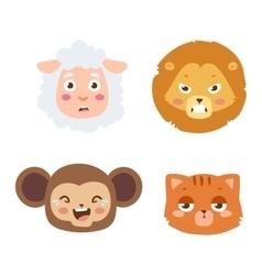 Animal emotion avatar icon vector image