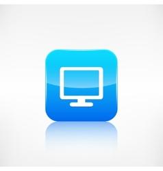 Monitor web icon Computer display vector image vector image