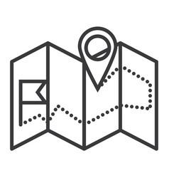 navigation map line icon sig vector image