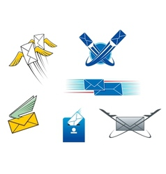 Post mail and letters symbols vector image