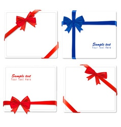 four red and blue bows ribbons vector image vector image