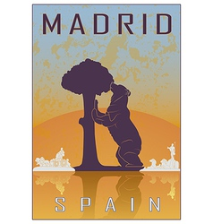 Madrid vintage poster vector image