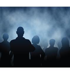 Mist people vector image