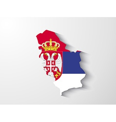 Serbia map with shadow effect presentation vector image