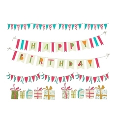 Set of birthday party elements Eps 10 vector image