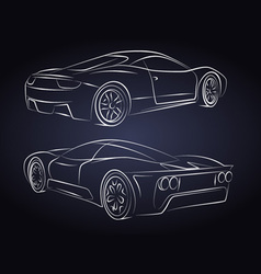 Sport cars Silhouette vector image
