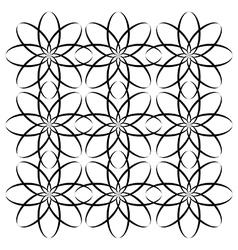 Abstract flower block pattern vector
