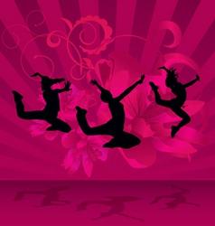 magenta dark dance party vector image