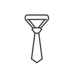 necktietie line icon sign vector image vector image