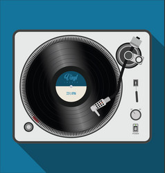 simple modern black and white turntable vector image