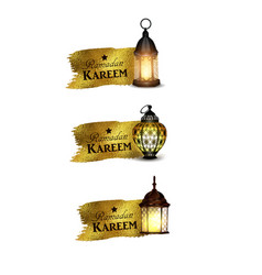 a lantern fanus set vector image