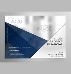 Abstract geometric business brochure design vector