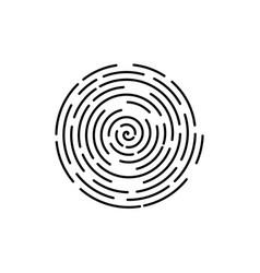 Abstract maze futuristic linear spiral vector