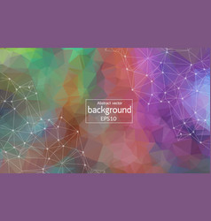 Abstract polygonal space background with vector