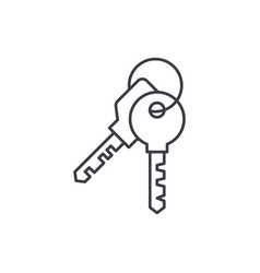 apartment keys line icon concept apartment keys vector image