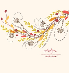 Background autumn leaves greeting cards vector