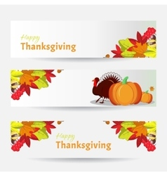 banners for Thanksgiving Day vector image