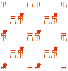 Bar stool icon in cartoon style isolated on white vector