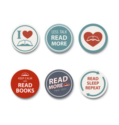 book lover badge book reader badge with a simple vector image