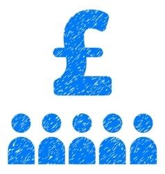 British Business Education Grainy Texture Icon vector