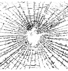 Broken glass grunge texture black white vector