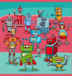 Cartoon robot fantasy characters vector