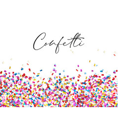 Celebration confetti background vector