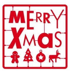Christmas card typography and icons christmas ki vector