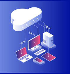 cloud computing information technology with vector image