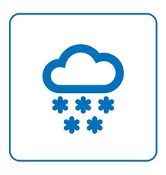 Cloud snow icon cartoon vector