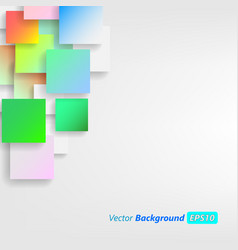 colorful square blank background - design concept vector image