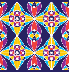 colorful tradition seamless pattern background vector image