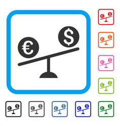 currency trade swing framed icon vector image
