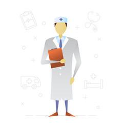 doctor flat character design medical worker vector image
