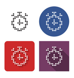 dotted icon stopwatch in four variants with vector image