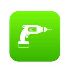 Drill icon digital green vector