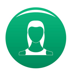 Female avatar icon green vector