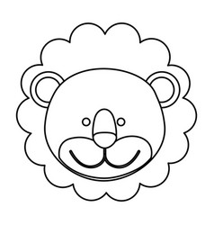 figure face lion icon vector image