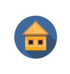 flat house icon question with a long shadow icon vector image vector image