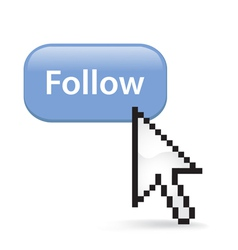 Follow Button Click vector image