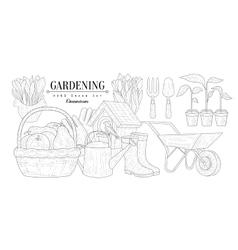 Gardening Vintage Sketch vector