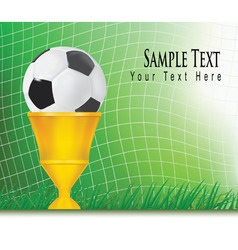green football background vector image