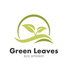 Green leaf eco logo vector