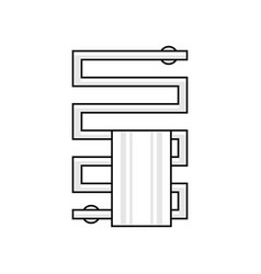 heated towel rail vector image